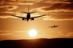 plane twilight