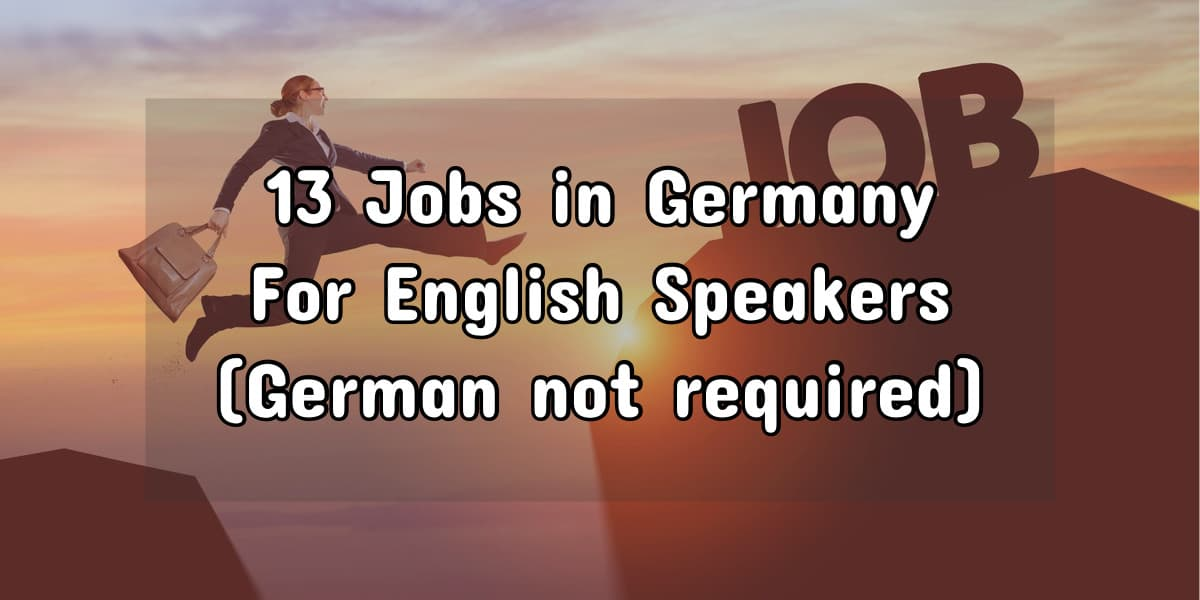 Work in Germany without speaking German