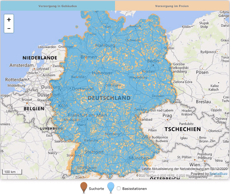 o2 network coverage Germany