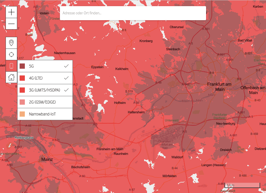 vodafone network coverage Germany
